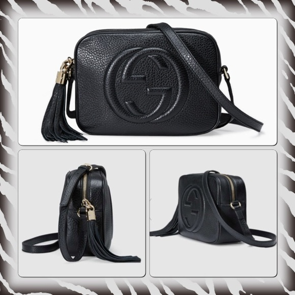 10833a6041e36a Gucci Bags | Authentic Small Boho Disco Bag In Black Leather | Poshmark